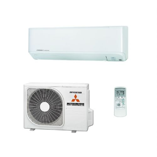 Mitsubishi Heavy Industries Air Conditioning SRK25ZSP-W Wall 2.5Kw/9000Btu A R32 Install Kit